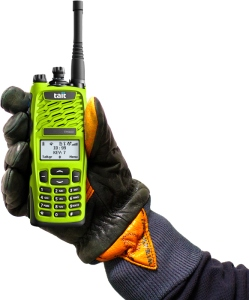 Lime green High Vis Tait Radio