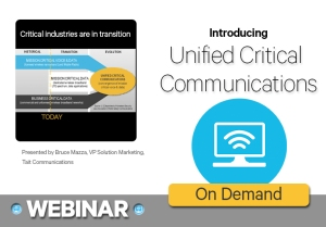 Unified critical communications webinar - To register